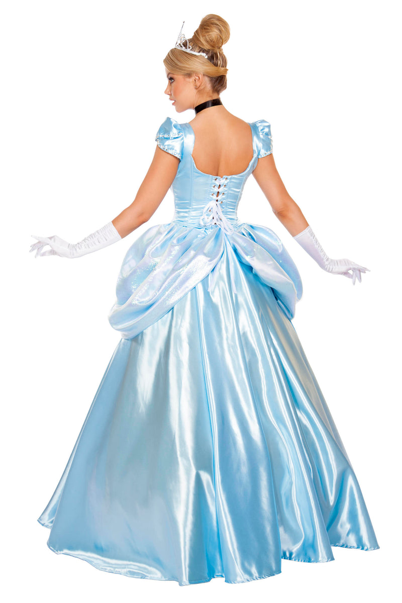 3 Piece Princess Cinderella Ball Gown Top & Skirt Dress Costume - Fest Threads
