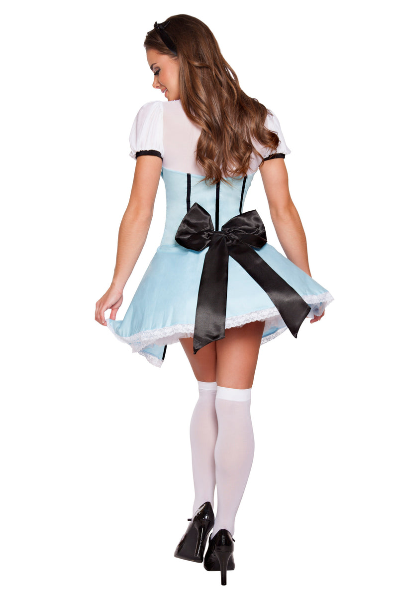 2 Piece Alice in Wonderland Bow Top & Flared Underskirt Costume - Fest Threads