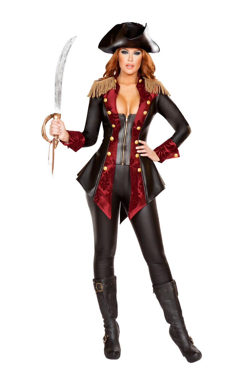 3-Piece-Pirate-Fringe-Jacket-&-Pants-w/-Sword-Party-Costume