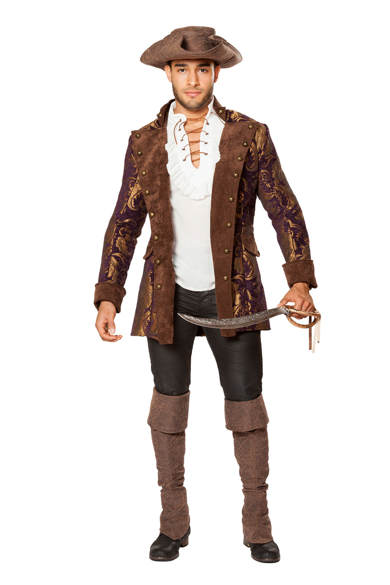 1-Piece-Pirate-Embroidered-Jacket-Party-Costume