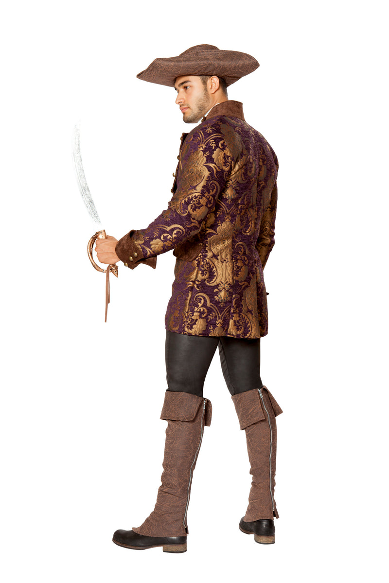 1 Piece Pirate Embroidered Jacket Party Costume - Fest Threads