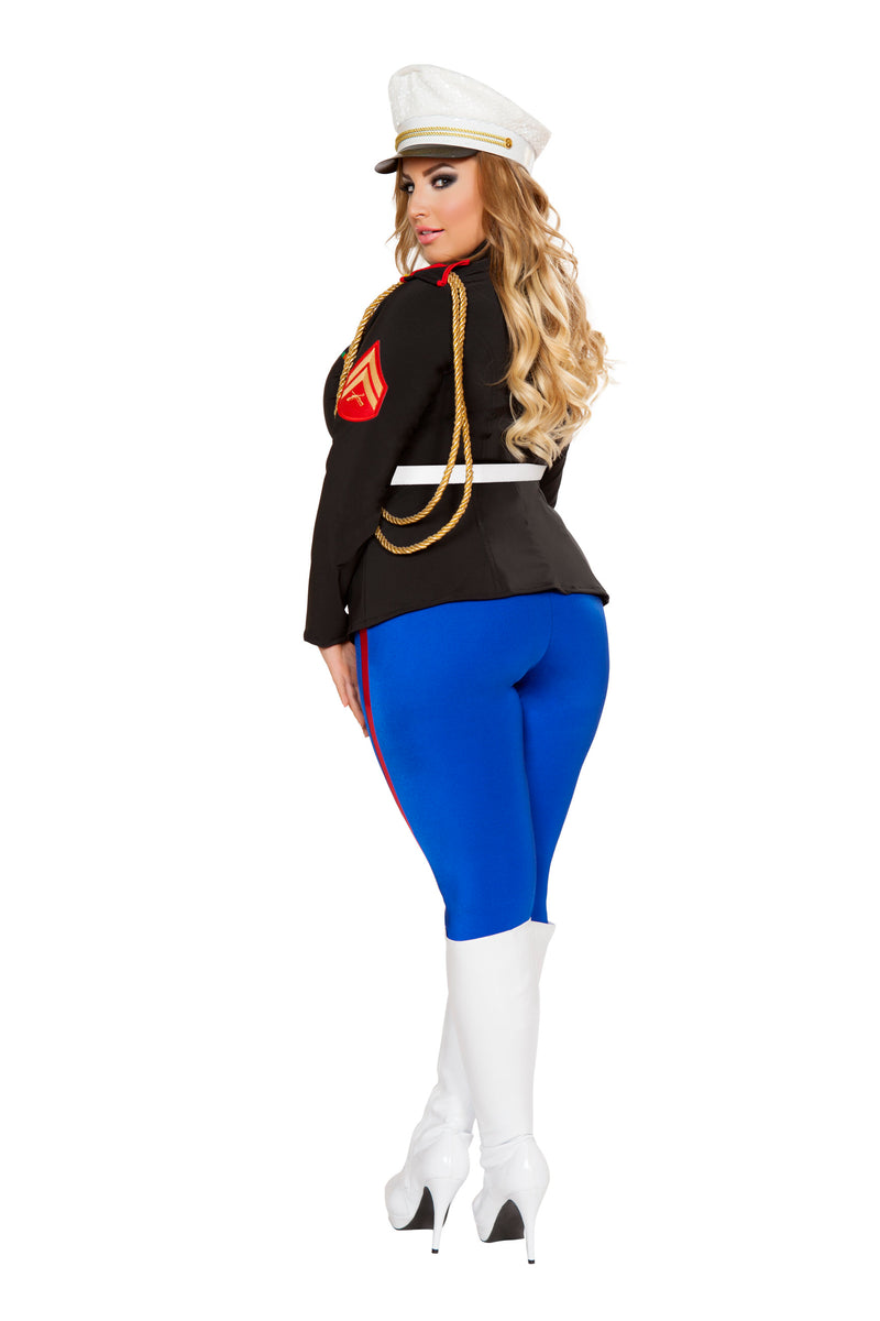 3 Piece Marine Lieutenant Jacket & Pants w/ Belt Party Costume