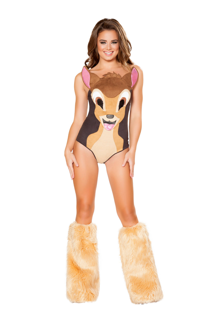 1-Piece-Deer-Fawn-Animal-Romper-w/-Tail-Party-Costume-