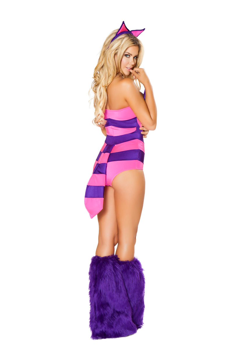 2 Piece Mad Cat Romper w/ Tail & Headband Party Costume - Fest Threads