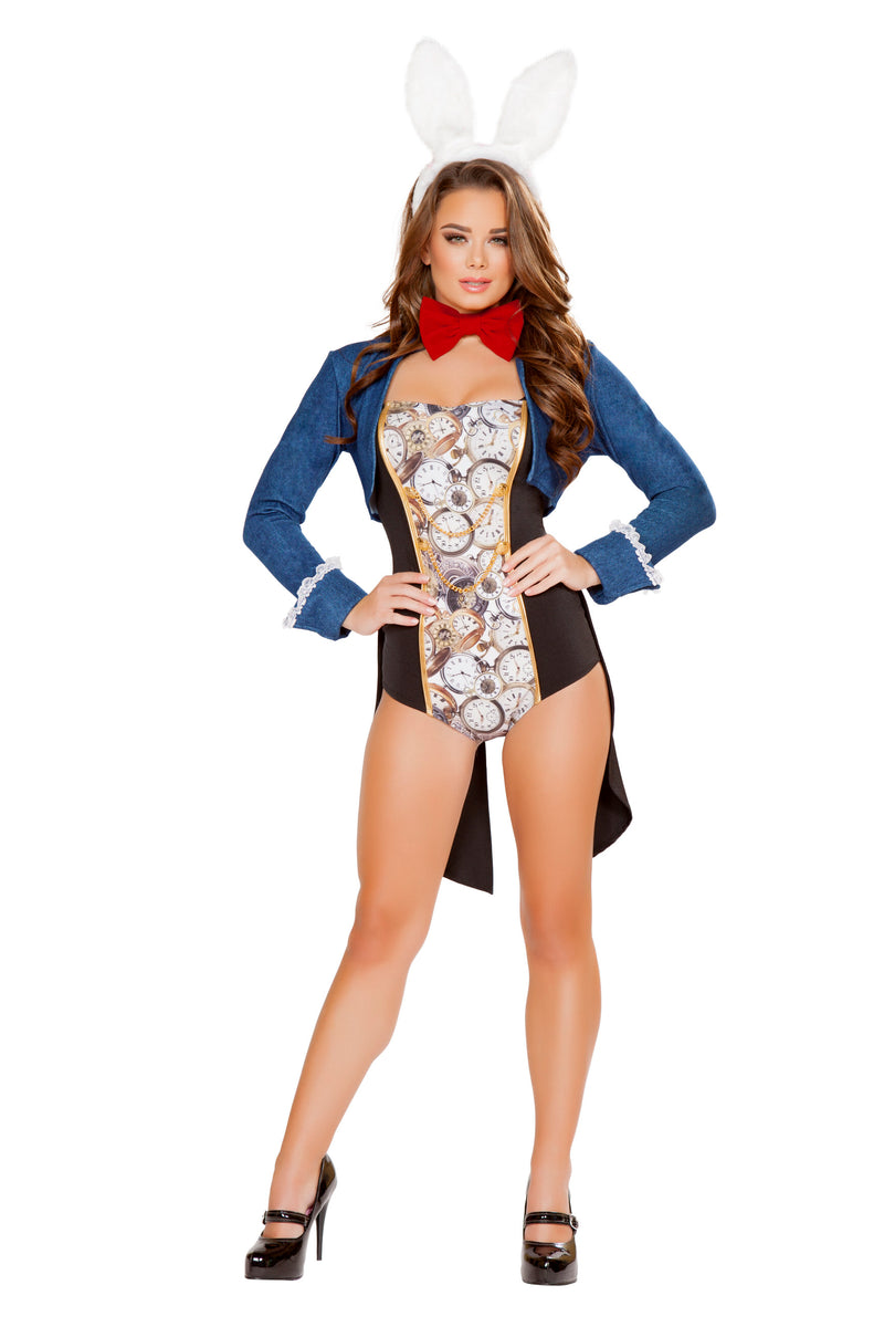 4-Piece-Mad-Rabbit-Romper-w/-Accessories-Party-Costume-