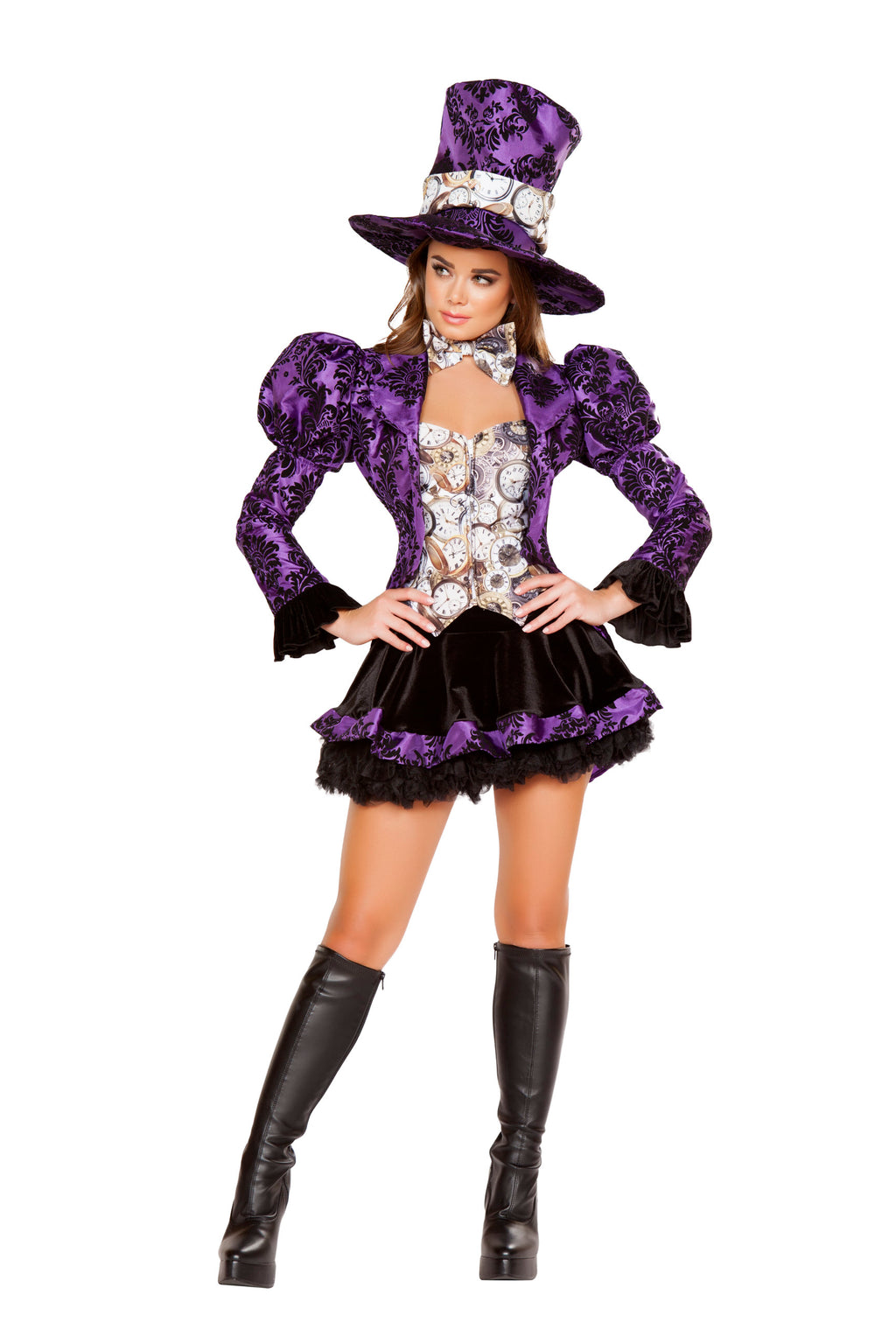 4-Piece-Mad-Tea-Partier-Jacket-&-Skirt-w/-Accessories-Party-Costume-