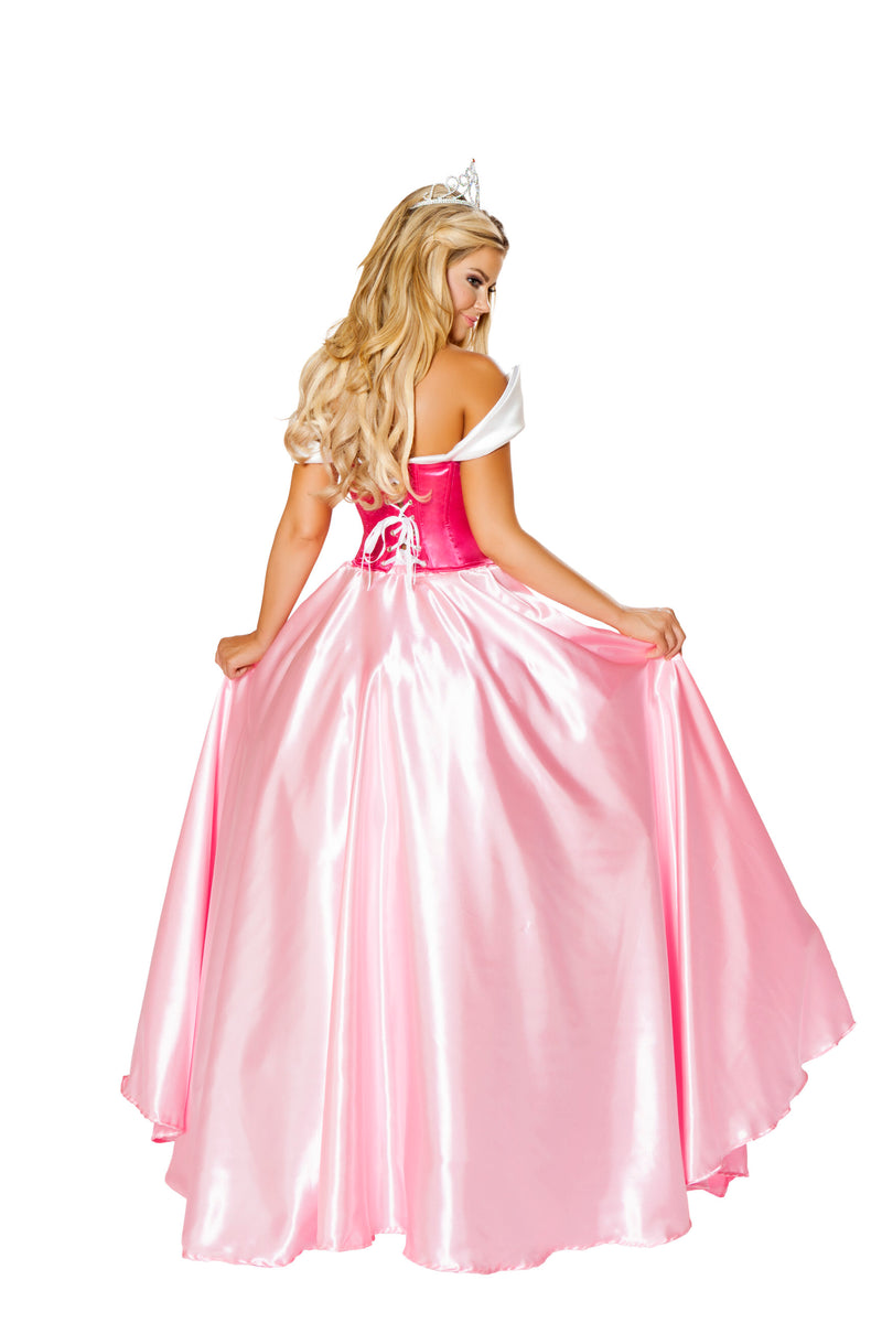 3 Piece Elegant Princess Corset Top & Skirt w/ Crown Party Costume - Fest Threads
