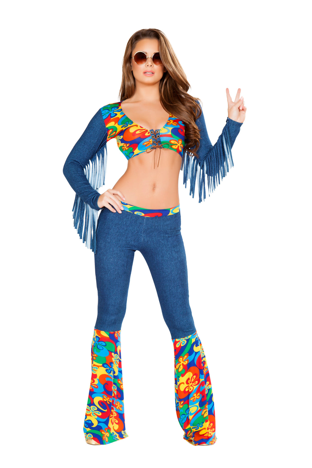 2-Piece-Hippie-Flower-Child-Groovy-Crop-Top-&-Bell-Bottoms-Party-Costume