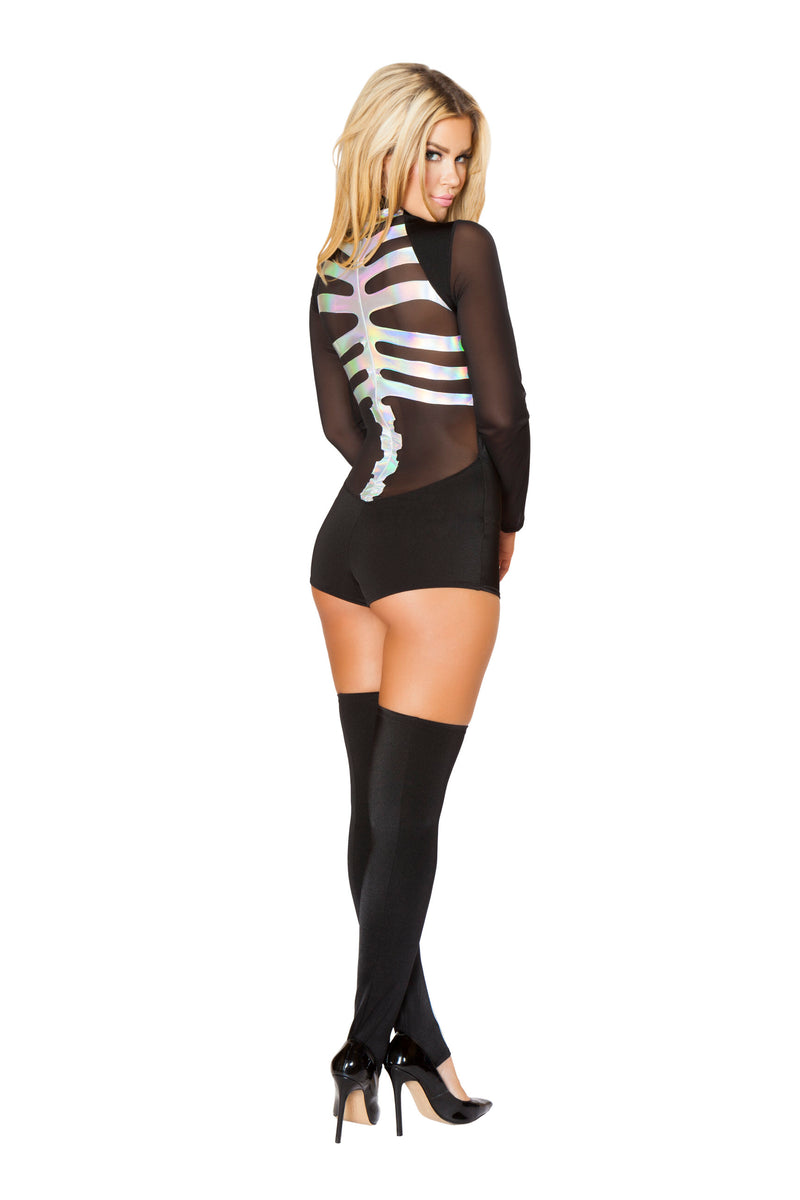 1 Piece Skeleton X-ray Romper Party Costume