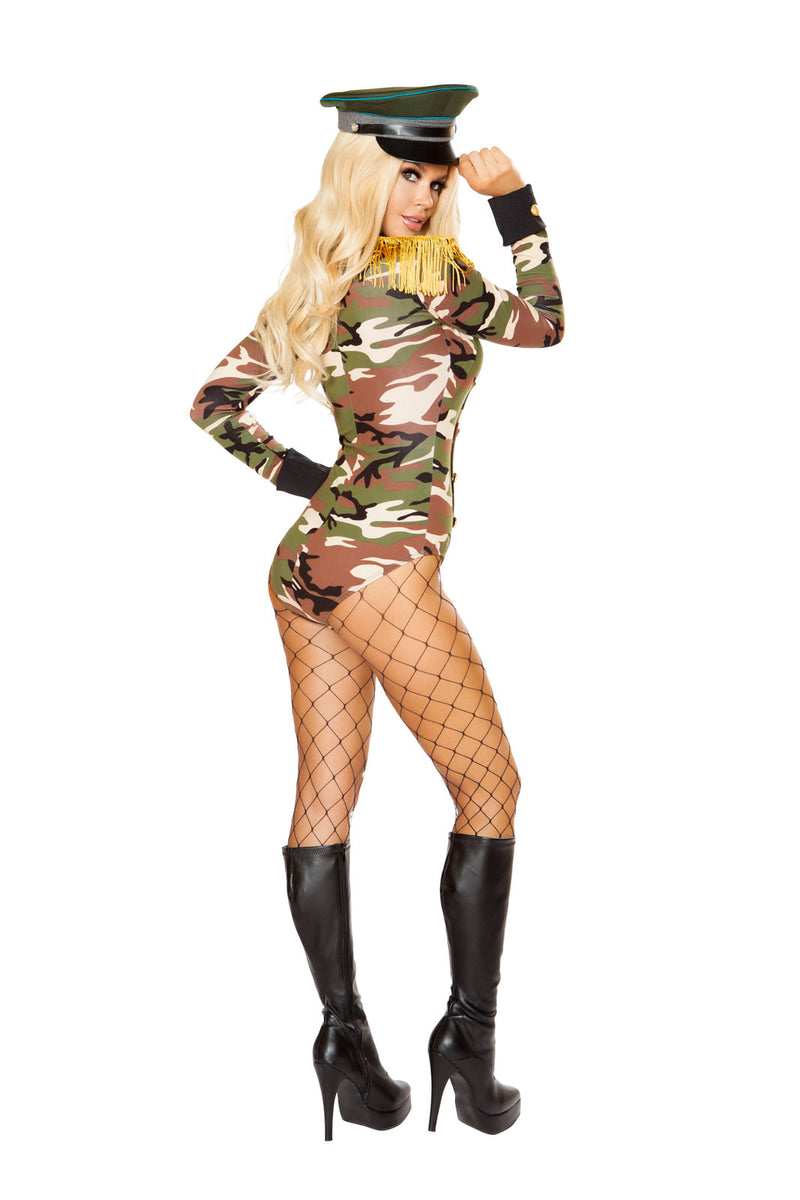 1 PC Army Military Babe Camouflage Long Sleeve Romper Party Costume - Fest Threads