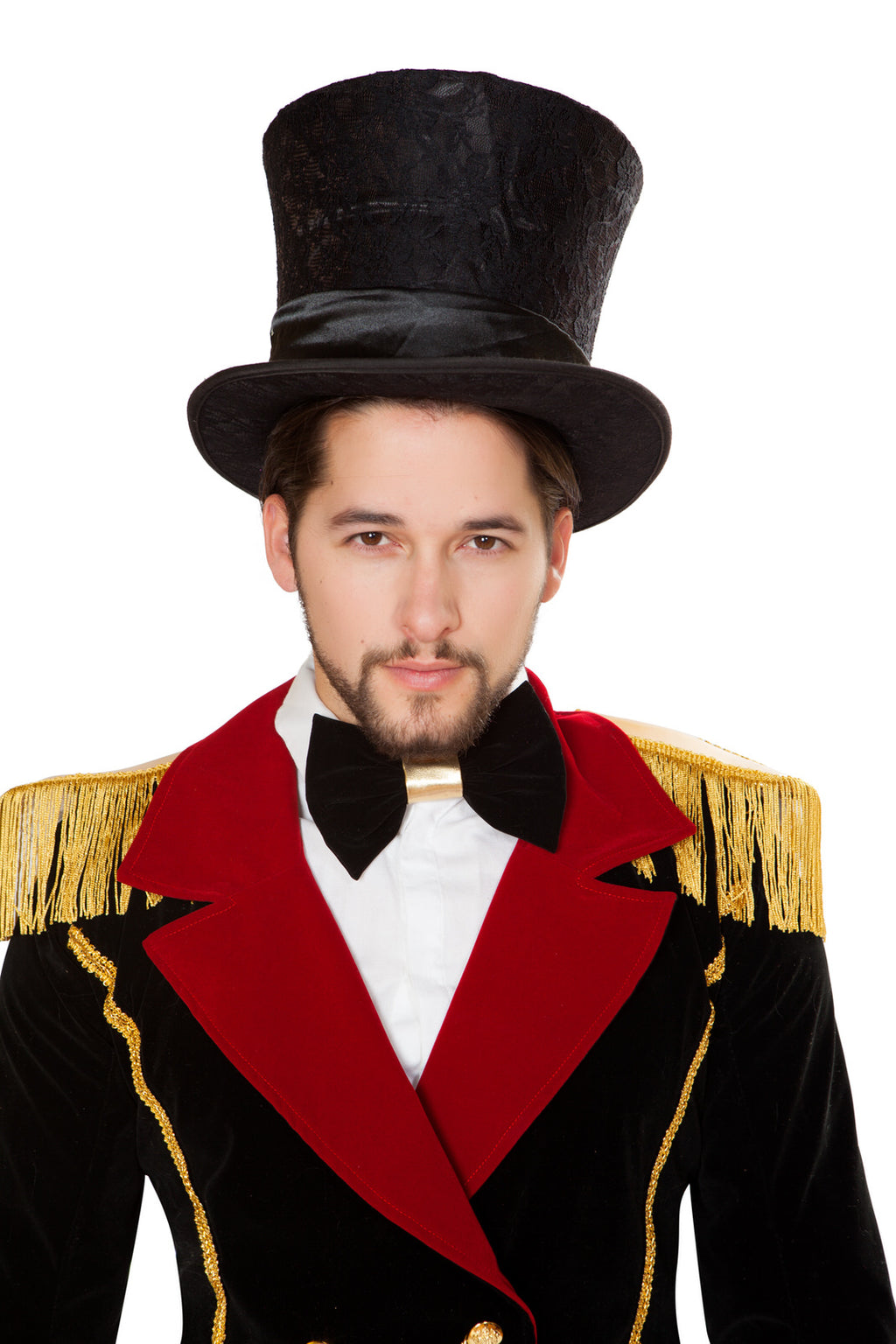 Adult-Men's-Circus-Ringleader-Black-Top-Hat-Party-Costume-Accessory