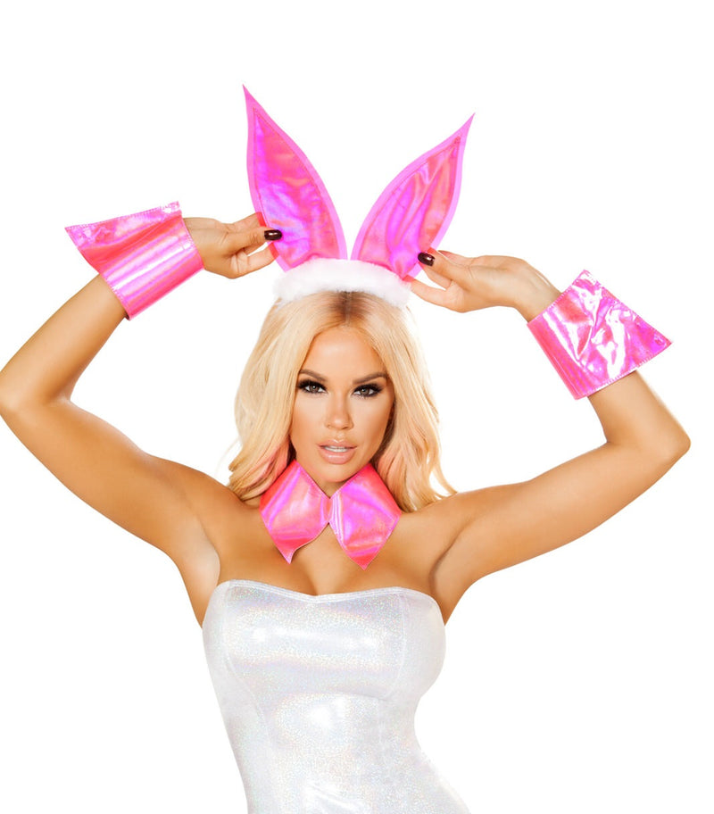 3-PC-Bunny-Model-Party-Costume-Accessory-Kit-(Ears,-Choker,-&-Cuffs)