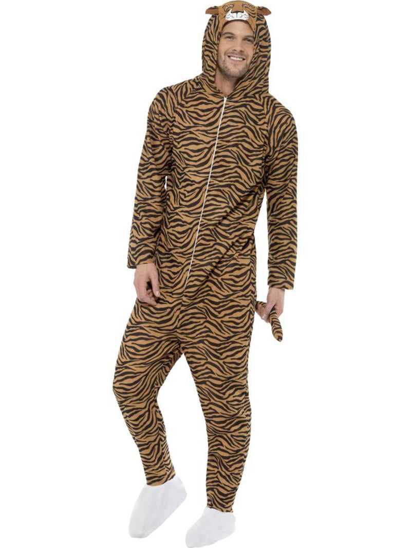 1 PC Unisex Tiger Hooded Jumpsuit Bodysuit Party Costume - Fest Threads