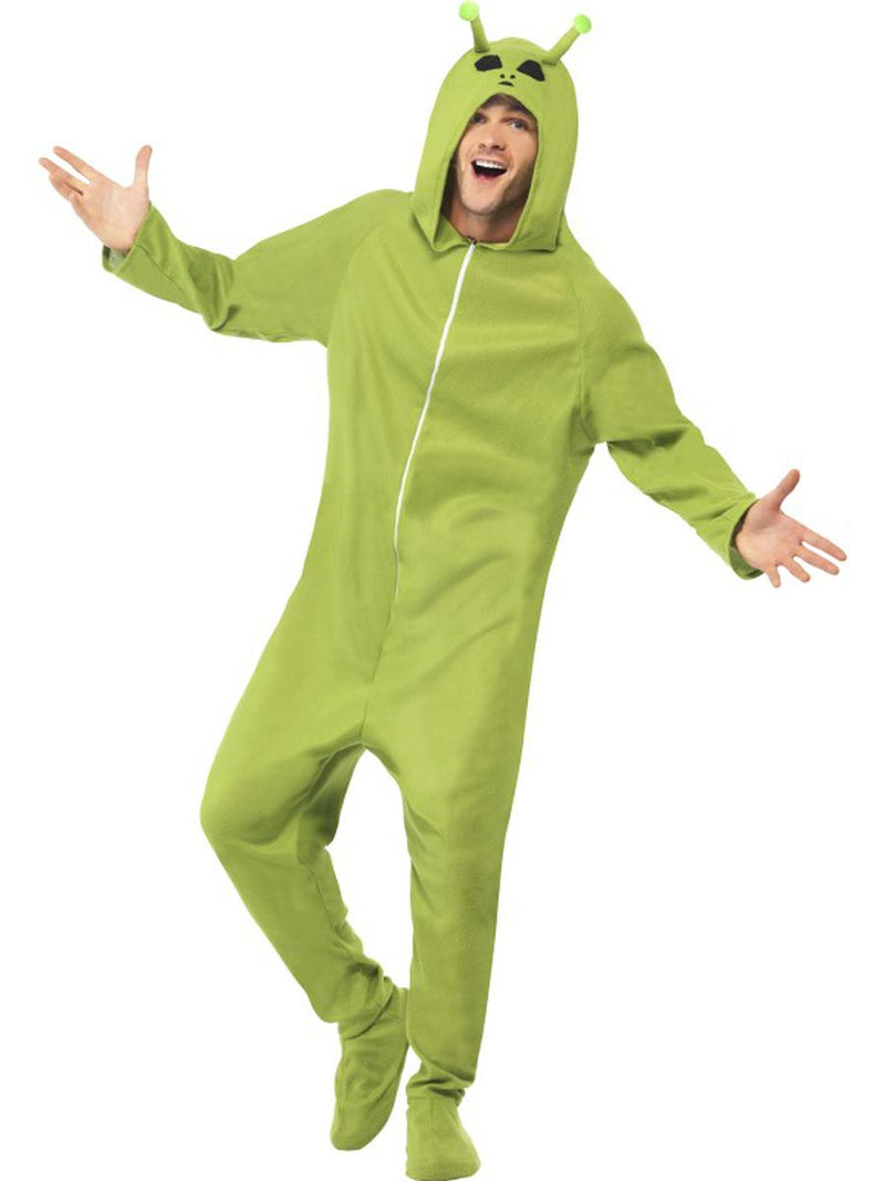 1-PC-Unisex-Alien-Extraterrestrial-UFO-Green-Hooded-Onesie-Jumpsuit-Costume
