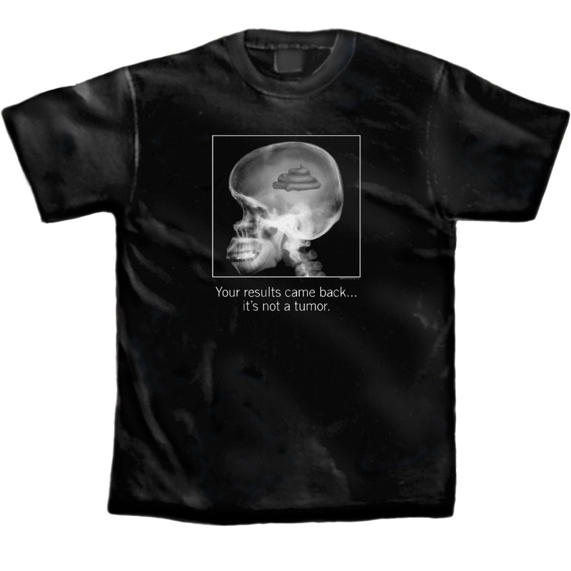 Men's-Black-Shit-for-Brains-Comical-Crude-T-Shirt
