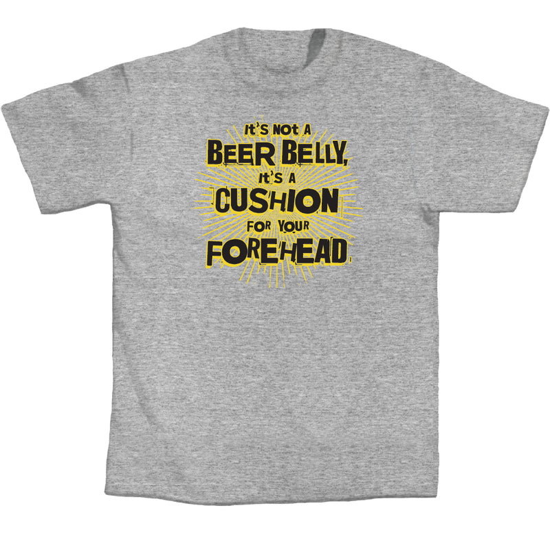 "Adult-Men-Dark-Gray-""It's-Not-a-Beer-Belly,-It's-a-Cushion""-Shirt"