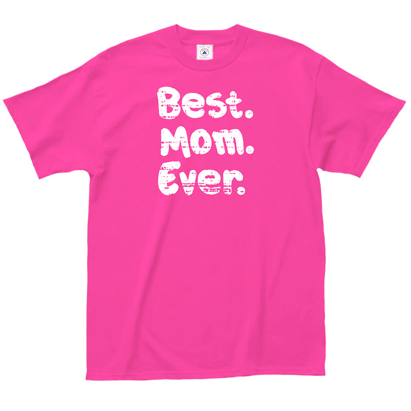 "Adult-Women's-Pink-""Best-Mom-Ever""-Shirt"