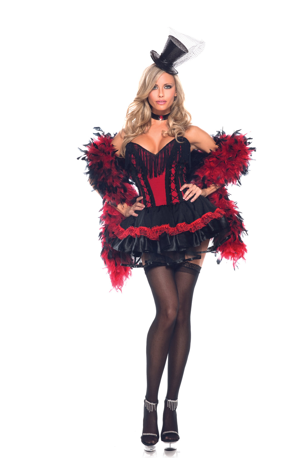 Adult-Women's-2-Piece-Burlesque-Moulin-Rouge-Halloween-Party-Costume