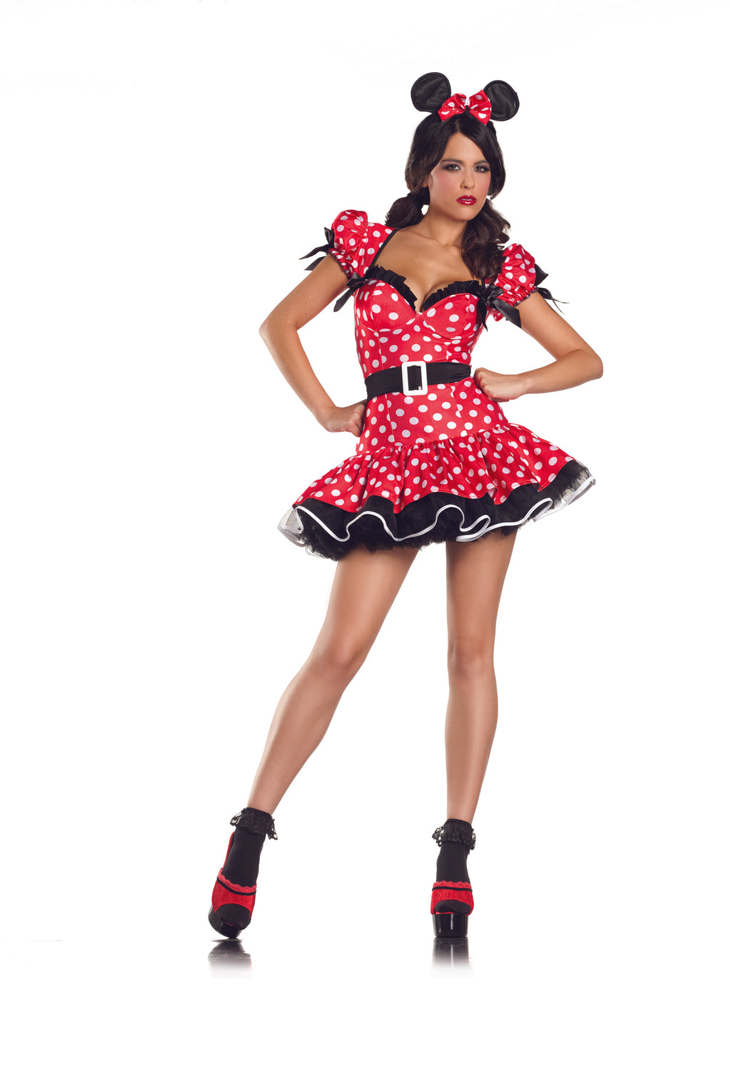 Adult-Women's-3-Piece-Sexy-Pin-Up-Minnie-Mouse-Halloween-Party-Costume