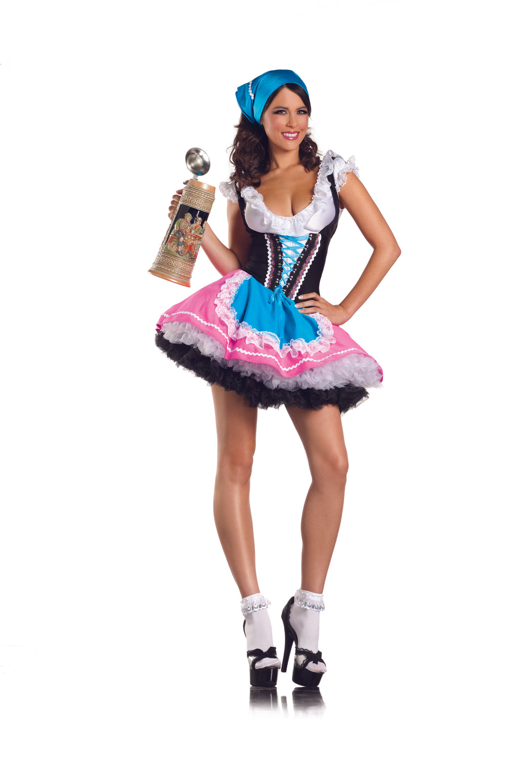 Adult-Women's-4-Piece-German-Beer-Girl-Bar-Maiden-Oktoberfest-Halloween-Party-Costume