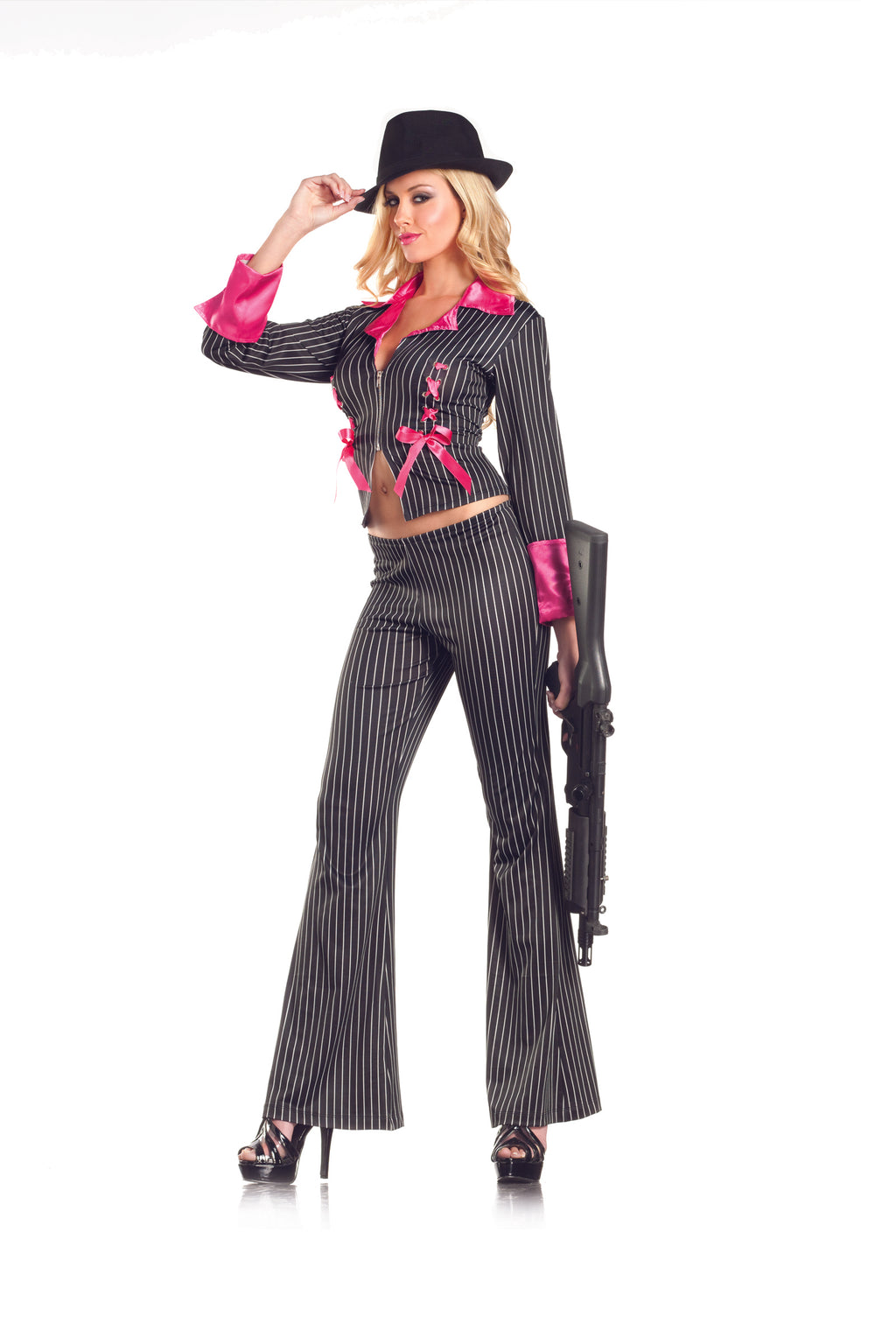 Adult-Women's-2-Piece-Sexy-Lady-Pimp-Hustler-Halloween-Party-Costume