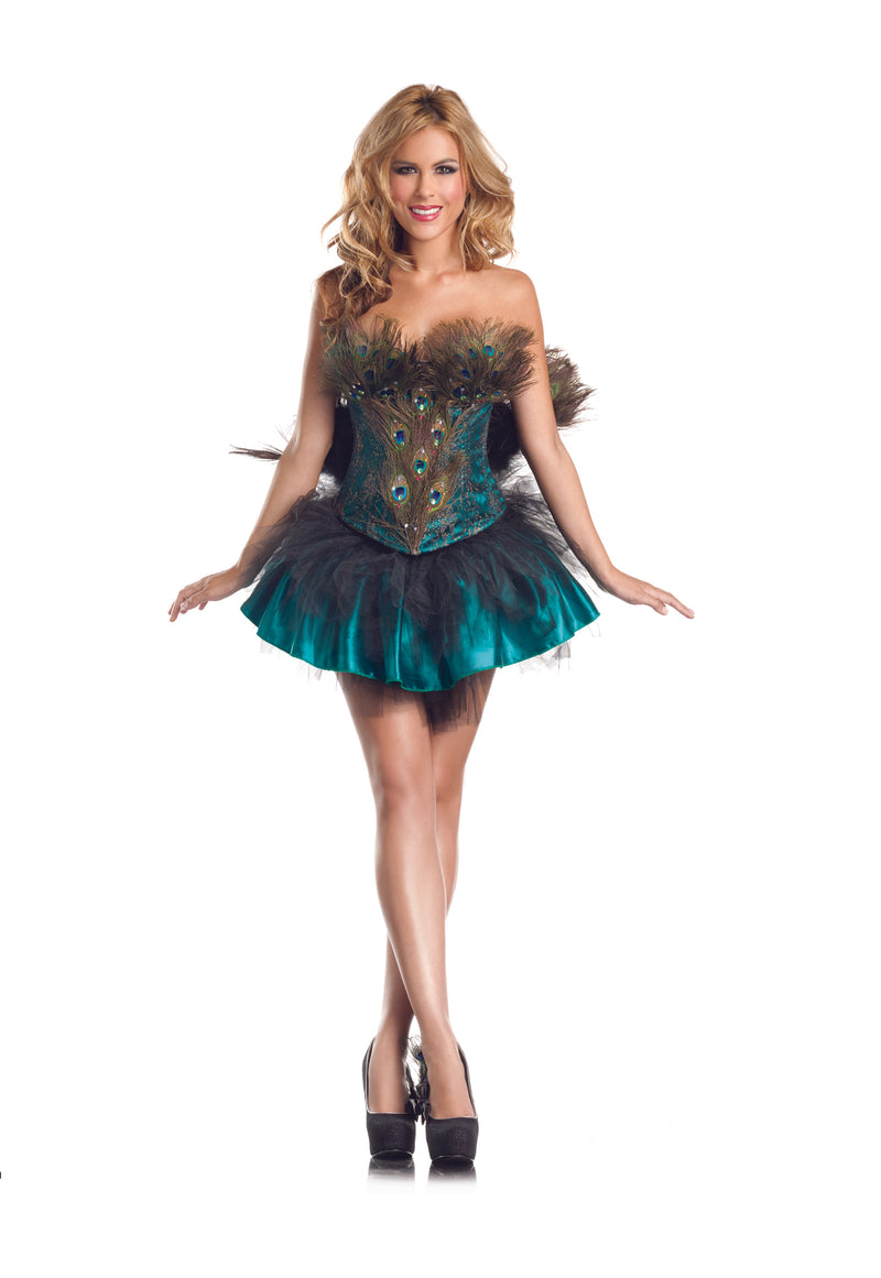 Adult-Women's-4-Piece-Sexy-Peacock-Halloween-Party-Costume-