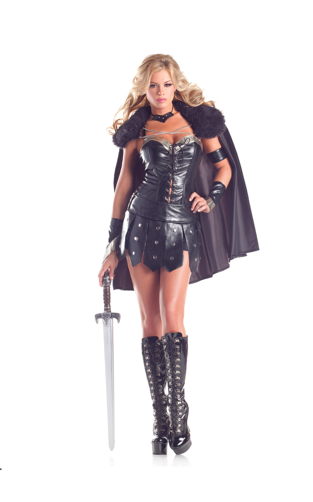 Adult-Women's-6-Piece-Sexy-Warrior-Princess-Halloween-Party-Costume-
