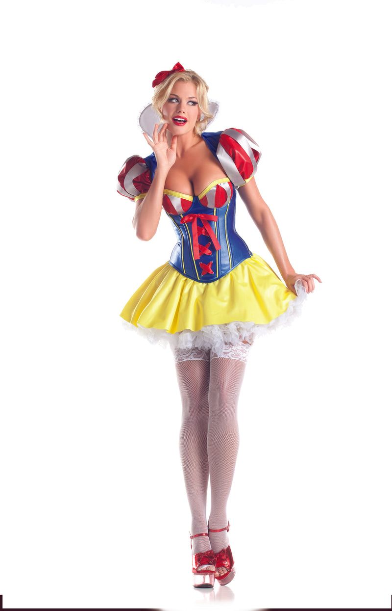Adult-Women's-5-Piece-Sexy-Snow-White-&-7-Dwarfs-Halloween-Party-Costume-