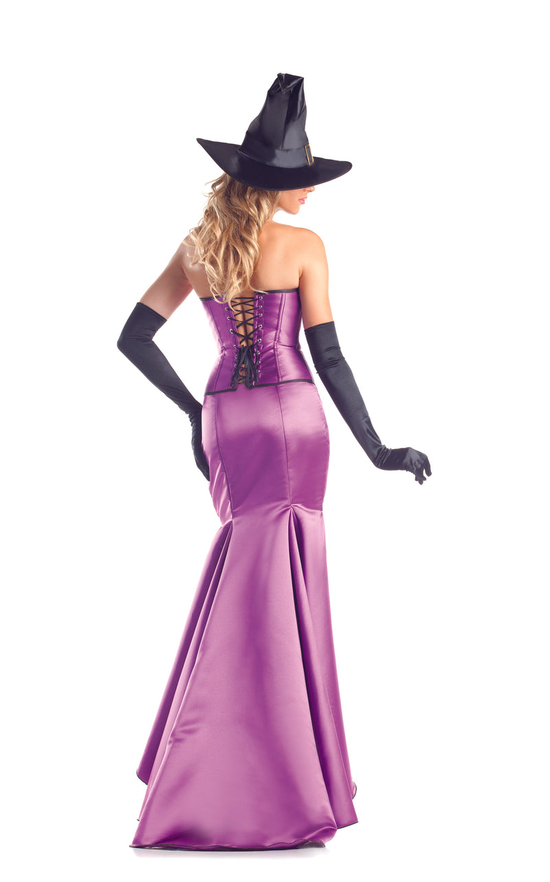 Adult Women's 3 Piece Witch High Low Dress Halloween Party Costume
