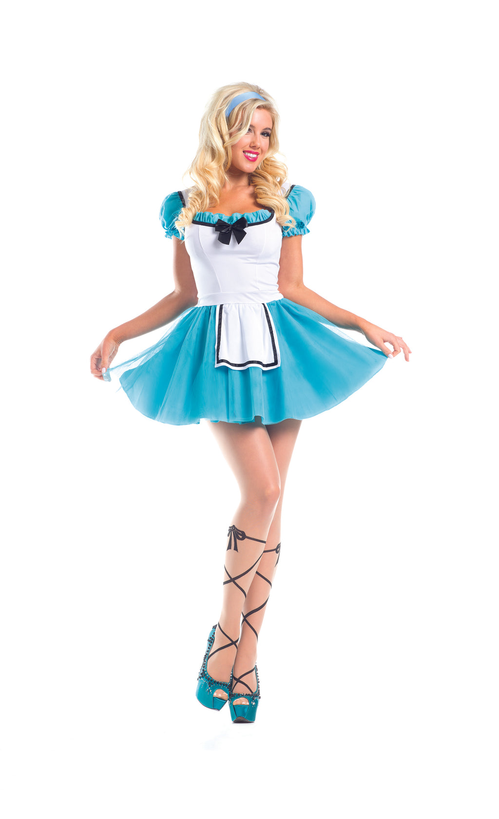 Adult-Women's-2-Piece-Alice-in-Wonderland-Halloween-Party-Costume-