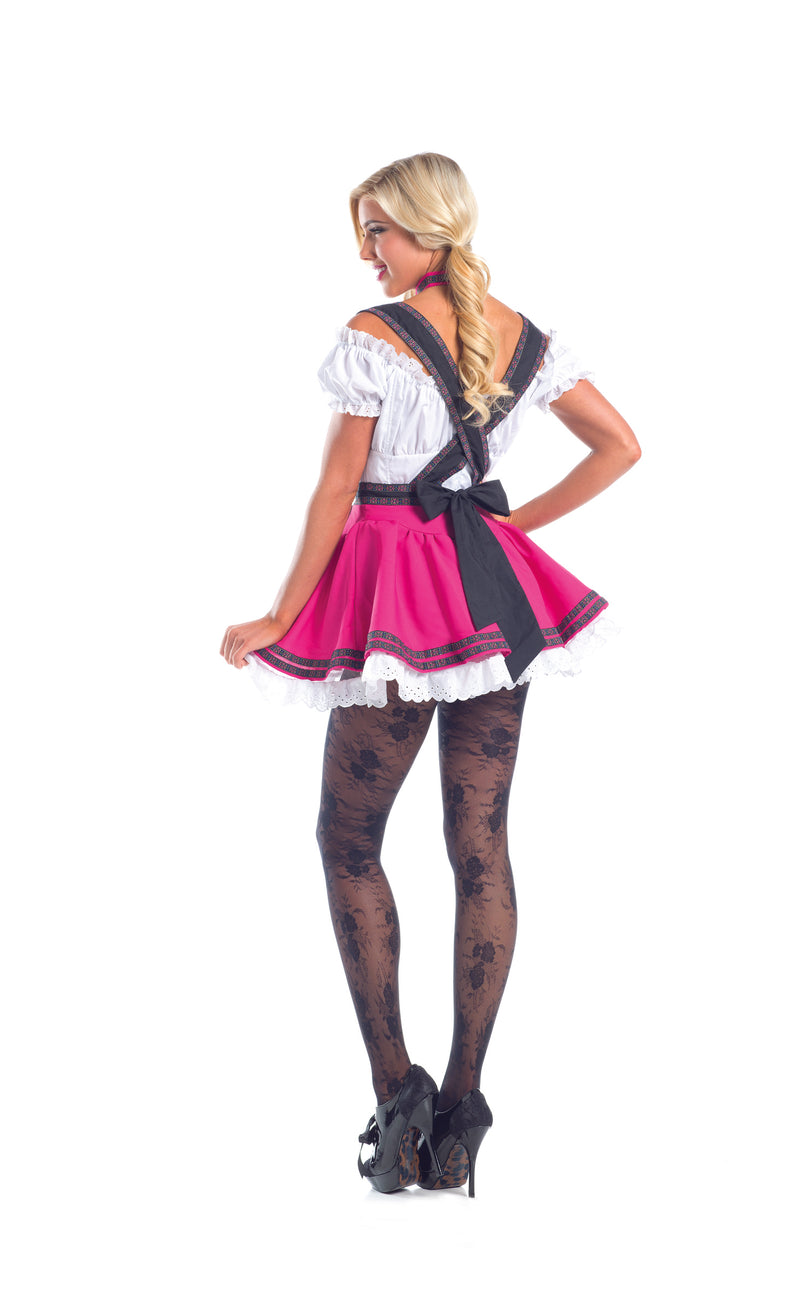 Adult Women's 3 Piece Sexy Swiss Chick Halloween Party Costume