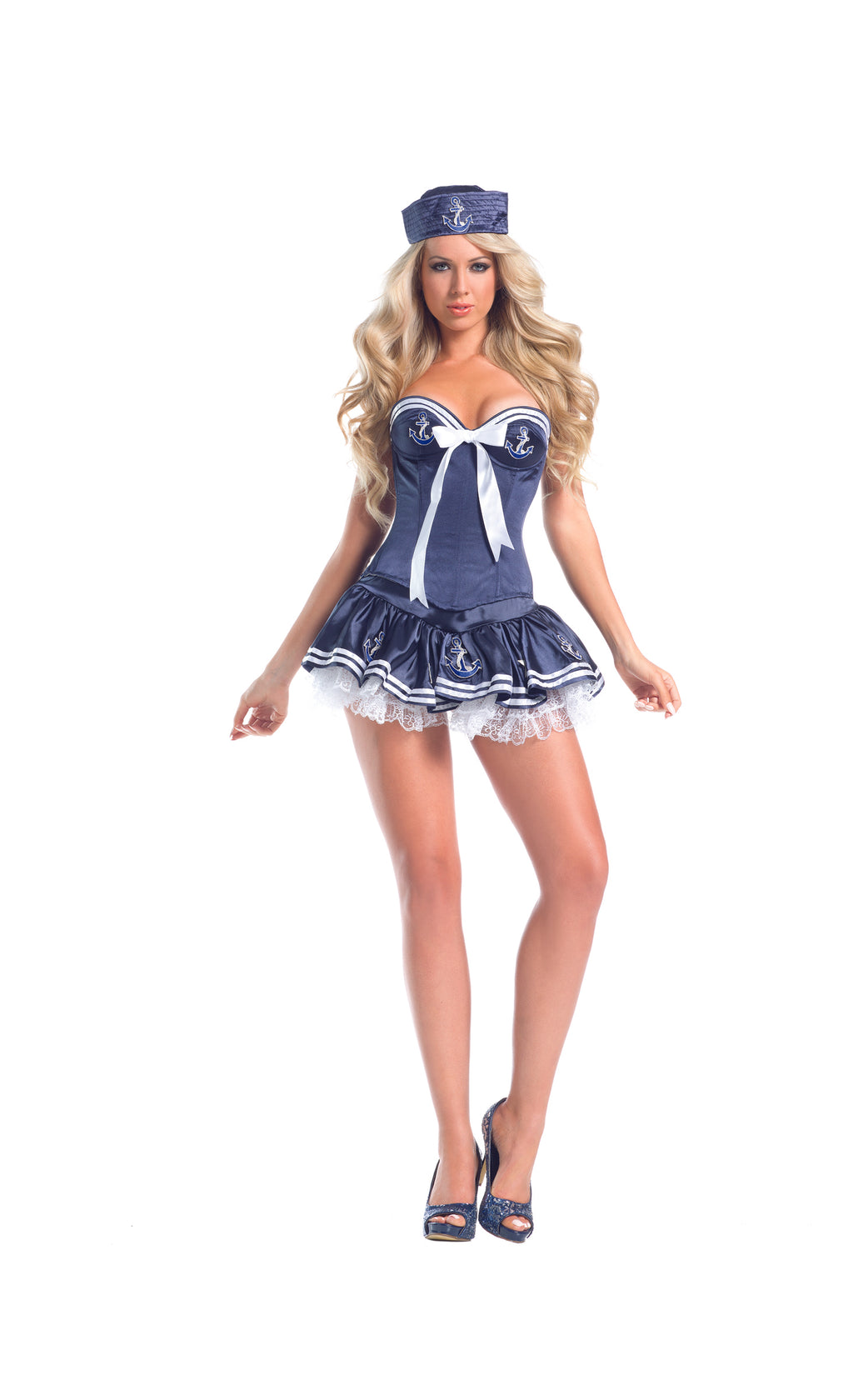 Adult-Women's-4-Piece-Sailor-Captain-Navy-Blue-Dress-Halloween-Party-Costume