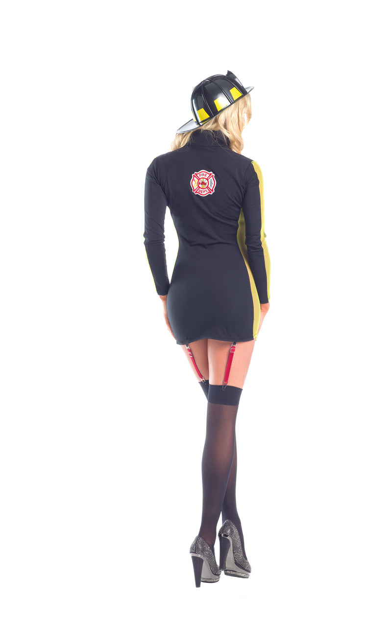Adult Women's 2 Piece Sexy Fire Fighter Halloween Party Costume