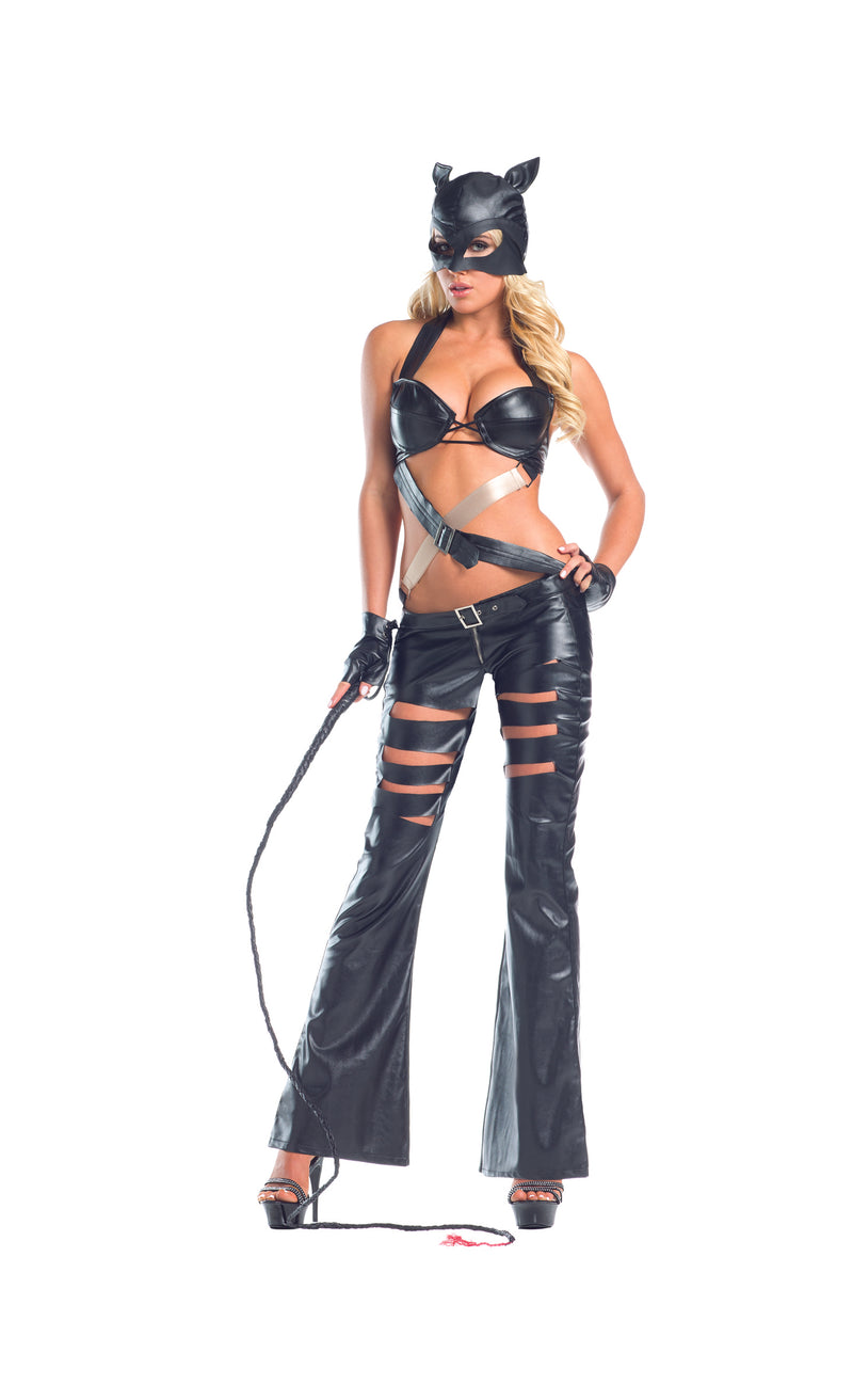 Adult-Women's-3-Piece-Sexy-Naughty-Dominatrix-Kitten-Dress-Halloween-Party-Costume
