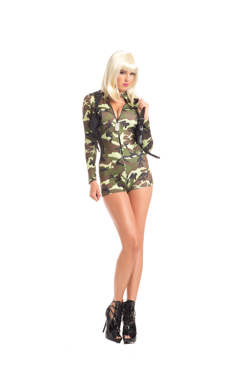 Adult-Women's-2-Piece-Camouflage-Army-Babe-Romper-Halloween-Party-Costume