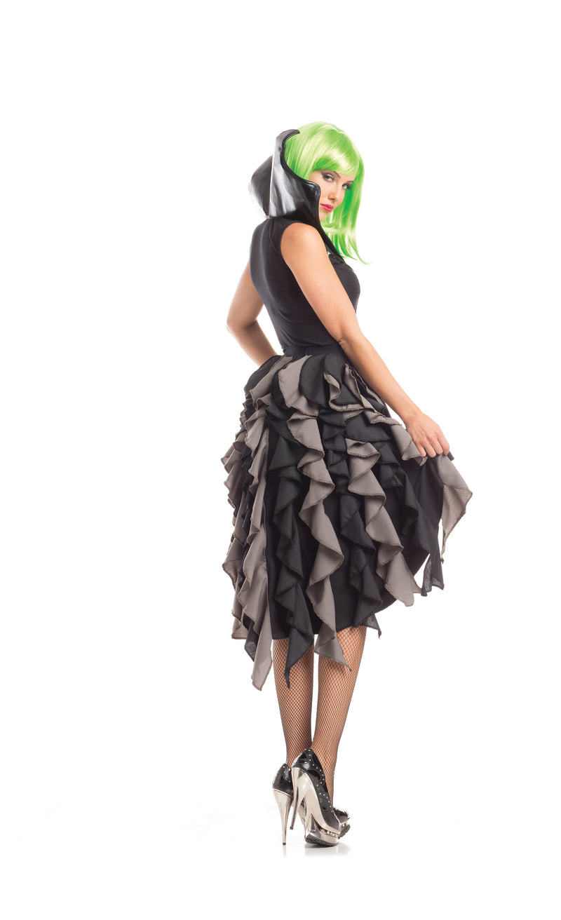 Adult Women's 5 Piece Sexy Witch Ruffle Dress Halloween Party Costume - Fest Threads