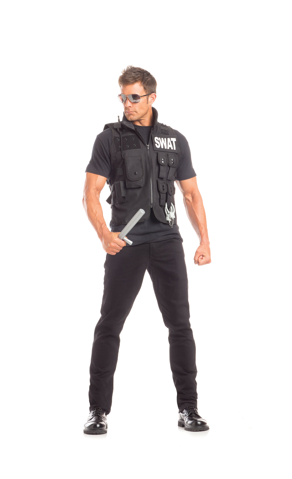 Adult-Men's-2-Piece-SWAT-Man-Halloween-Party-Costume