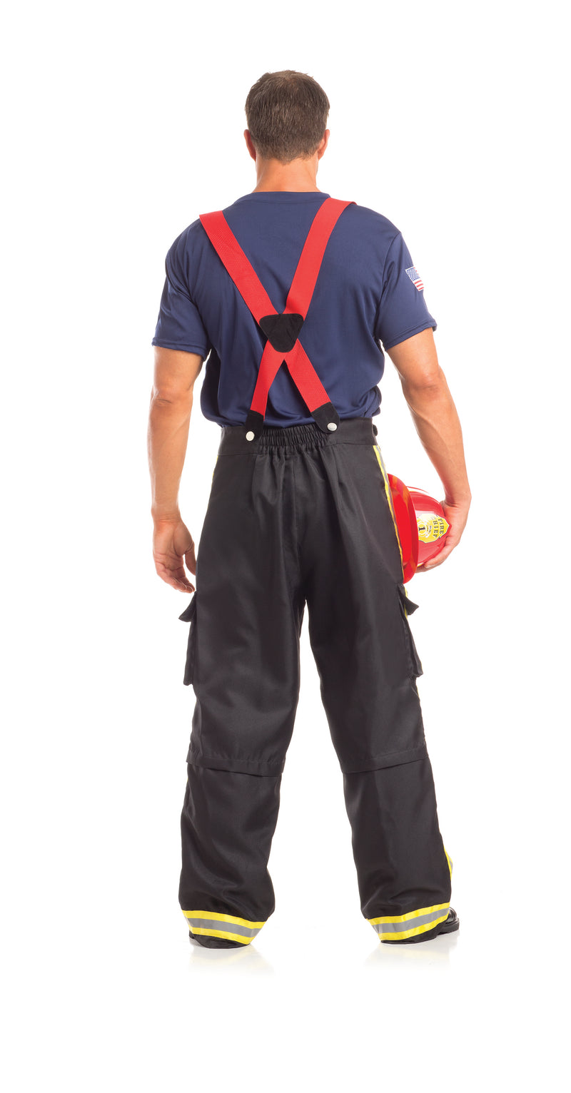 Adult Men's 3 Piece Fire Fighter Halloween Party Costume - Fest Threads