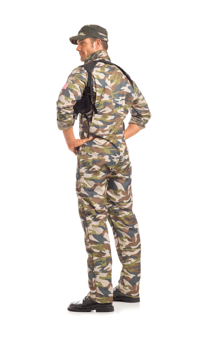 Adult Men's 2 Piece Camouflage Army Man Halloween Party Costume