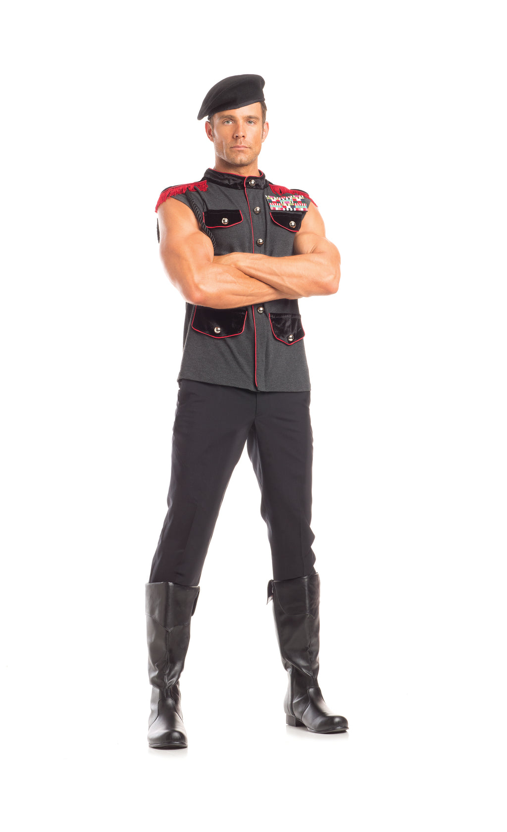 Adult-Men's-2-Piece-International-Officer-Halloween-Party-Costume
