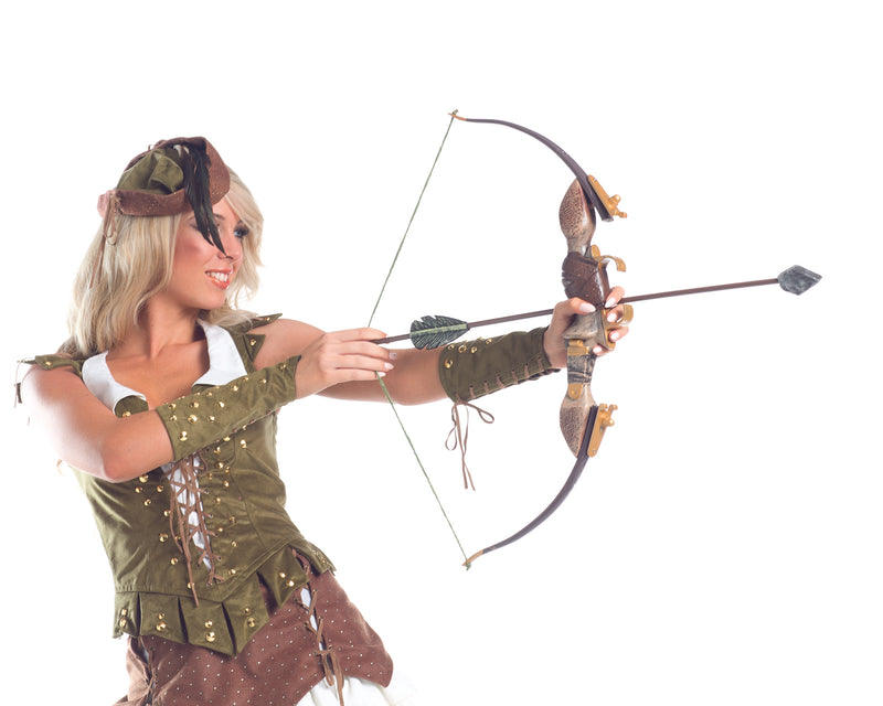 Adult-Women's-Sexy-Miss-Robin-Hood-Bow-&-Arrow-Halloween-Party-Costume-Accessory