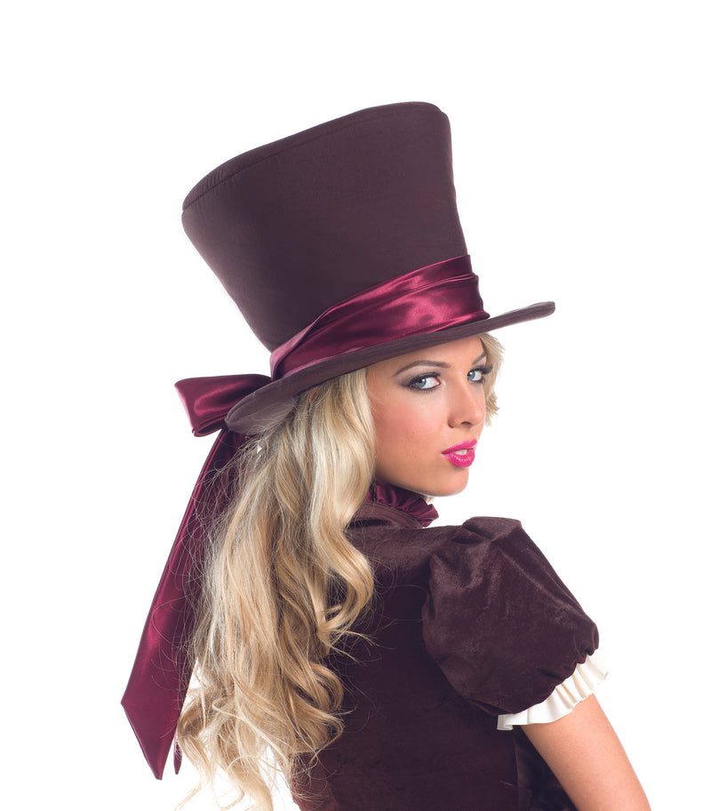 Adult-Women's-Sexy-Alice-in-Wonderland-Mad-Hatter-Hat-Halloween-Party-Costume-Accessory
