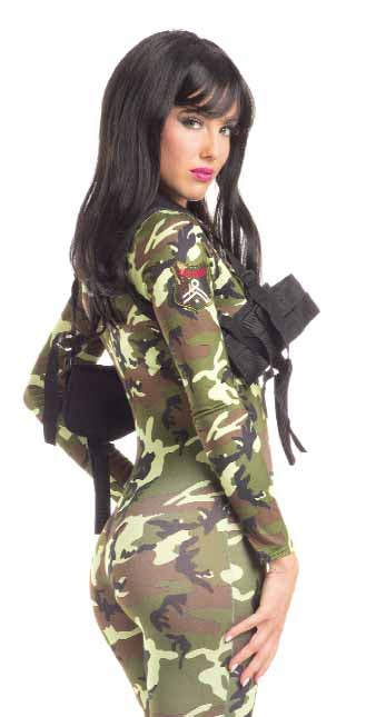 Adult-Women's-Sexy-Army-Babe-Gun-Holster-Halloween-Party-Costume-Accessory