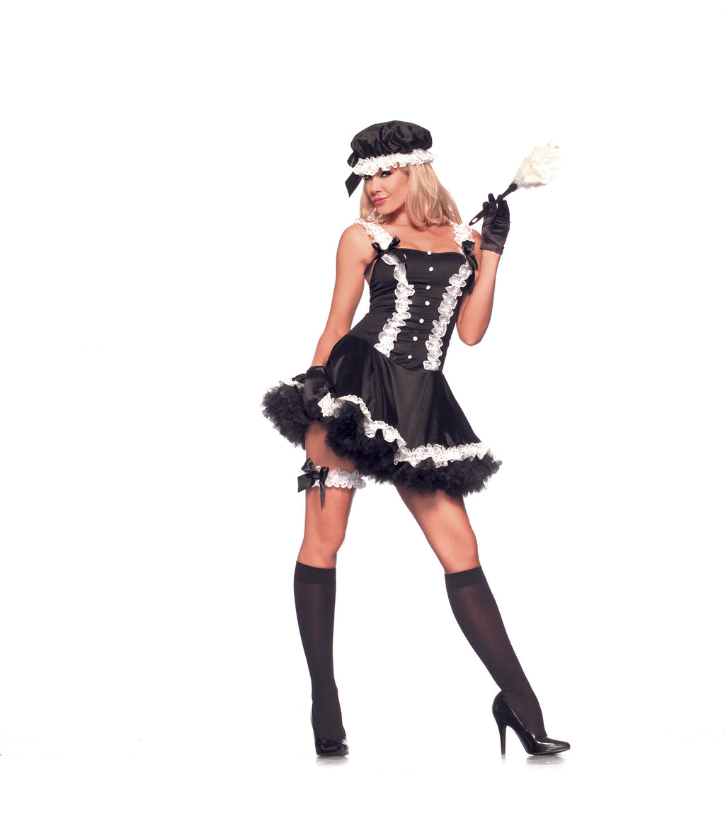 Adult-Women's-4-Piece-Naughty-New-York-Maid-Black-&-White-Dress-Halloween-Party-Costume