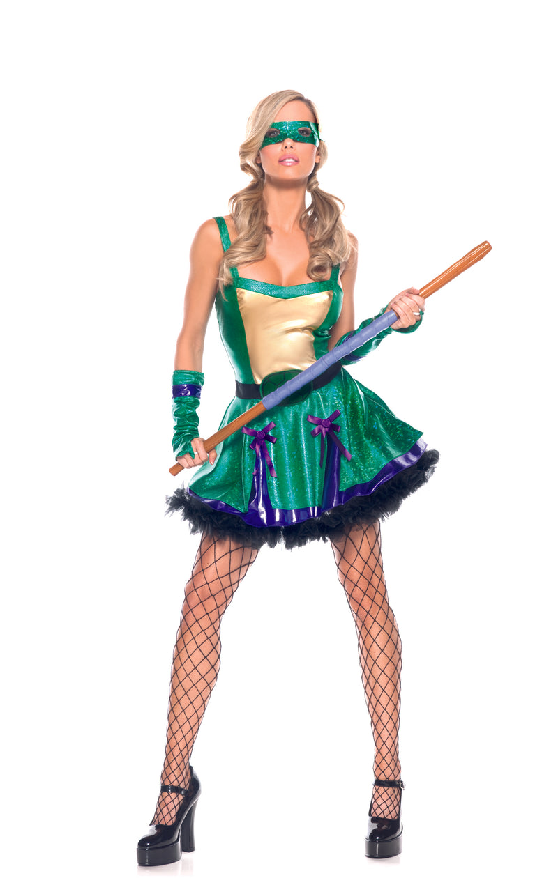 Adult-Women's-Sexy-Teenage-Mutan-Ninja-Turtles-TMNT-Halloween-Party-Costume