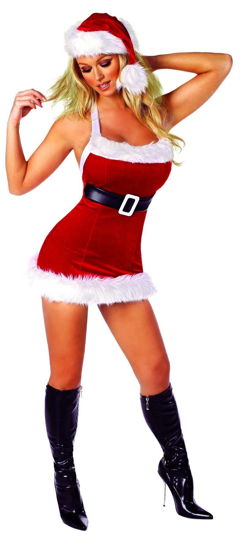1-Piece-Christmas-Party-Belted-Mini-Tank-Dress