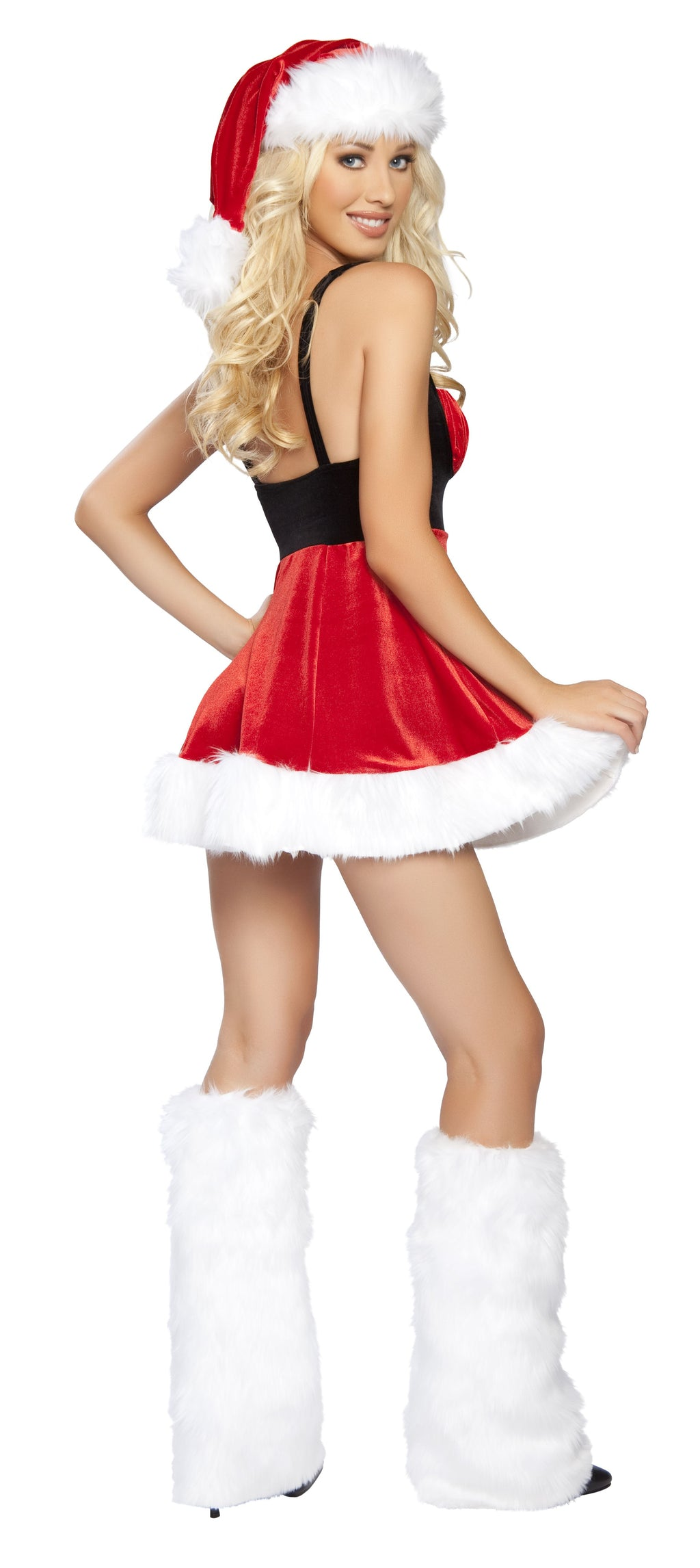 1-Piece-Christmas-Party-Belted-Tank-Flare-Mini-Dress