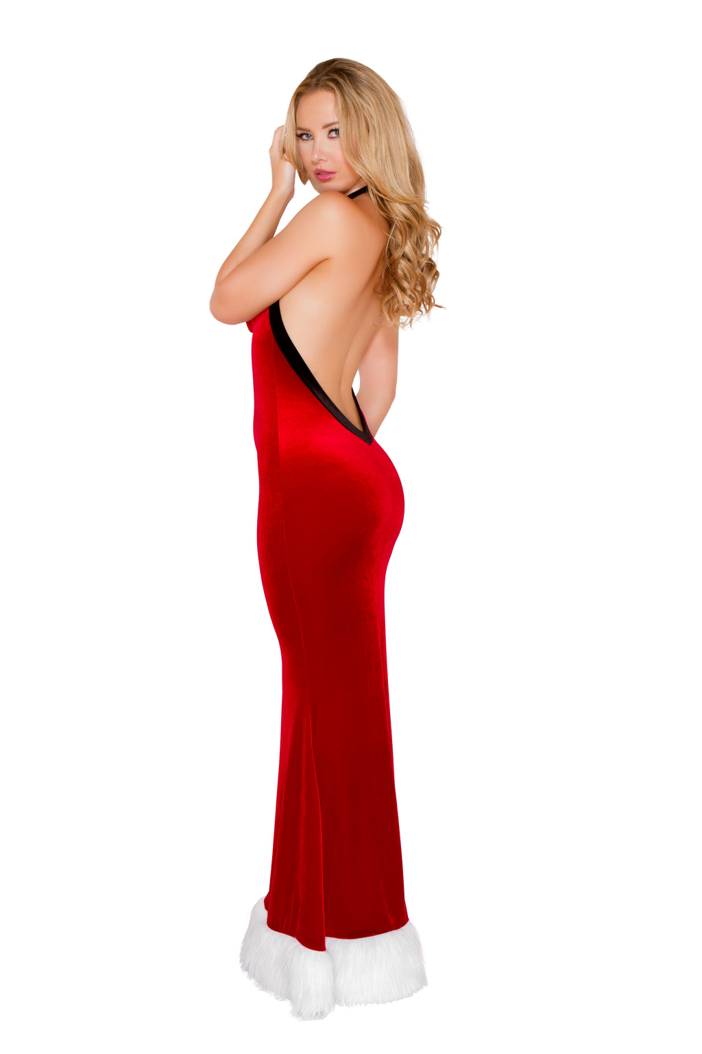 1-Piece-Christmas-Party-Red-&-Black-Backless-Maxi-Dress