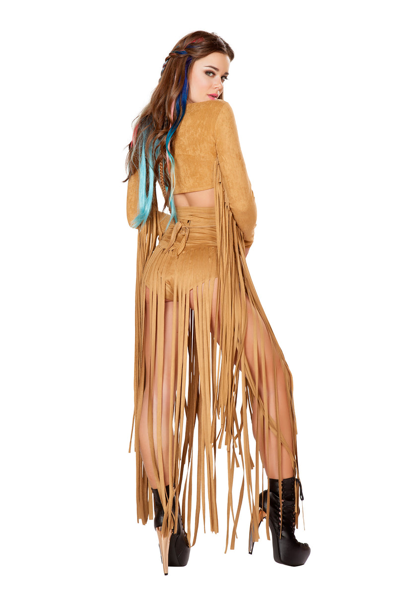 1 PC Fringe Wrap Halter Top Festival Party Costume - Multiple Colors