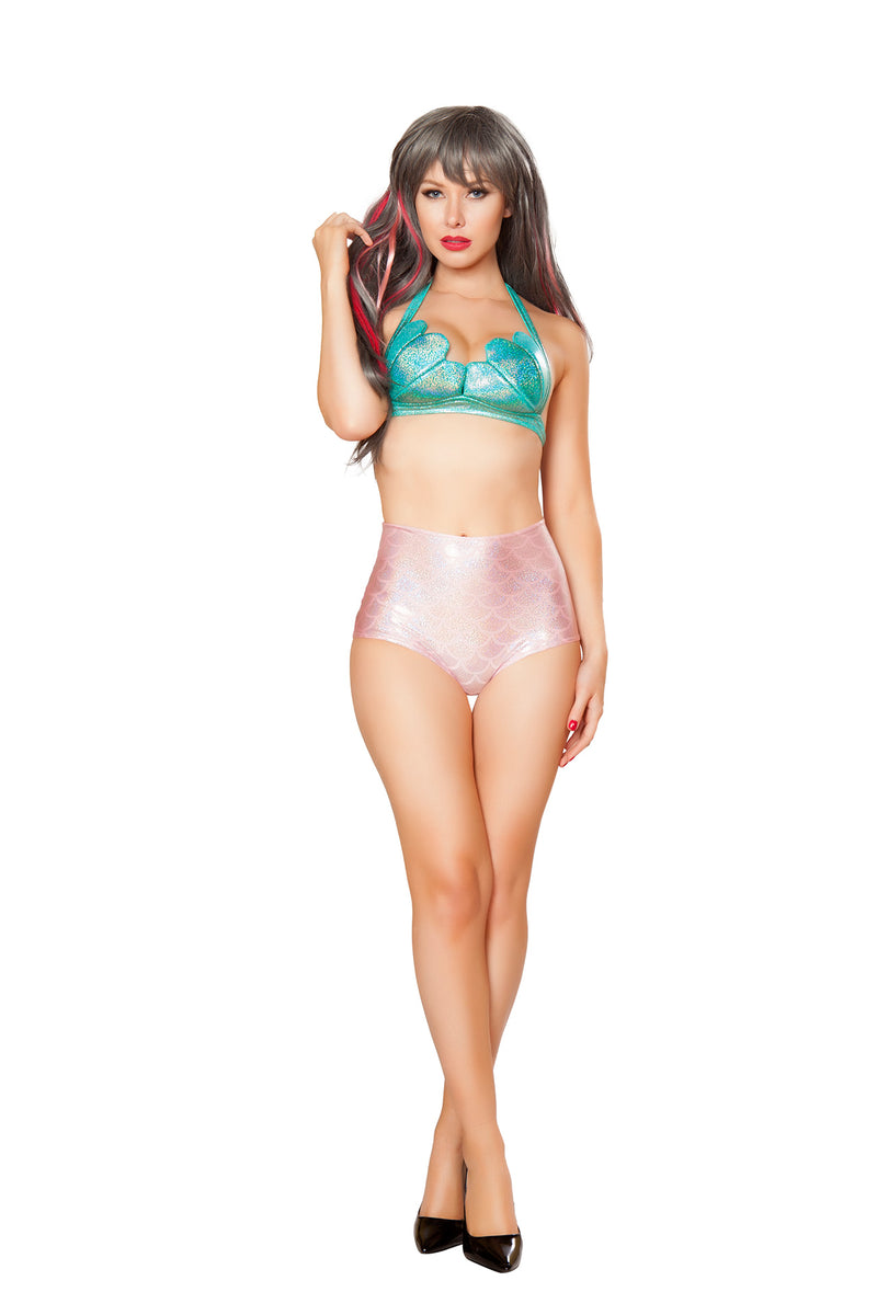 1-PC-Mermaid-Iridescent-Shell-Bikini-Top-Party-Costume---Multiple-Colors